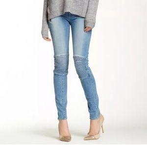 Hudson STARK moto skinny jeans 24 color: Vandal